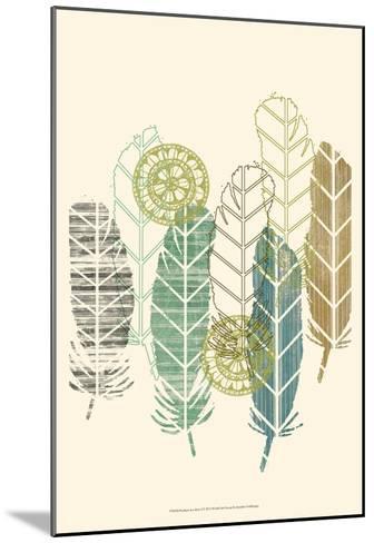 Feathers in a Row I-Jennifer Goldberger-Mounted Art Print