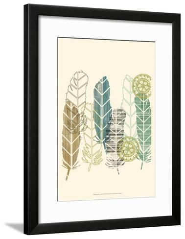 Feathers in a Row II-Jennifer Goldberger-Framed Art Print
