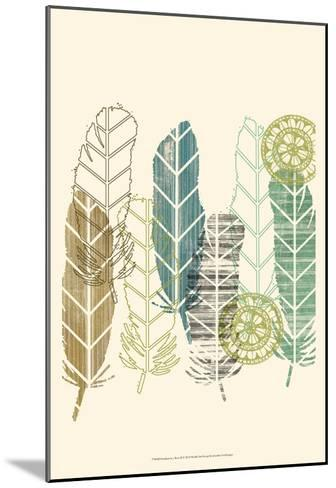 Feathers in a Row II-Jennifer Goldberger-Mounted Art Print