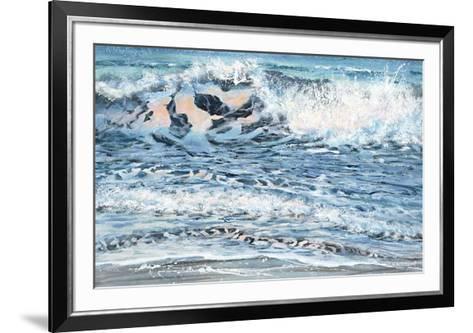 Shoreline study 14-Carole Malcolm-Framed Art Print