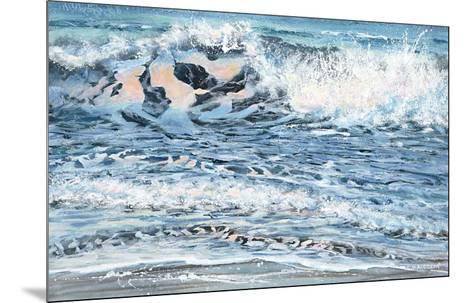 Shoreline study 14-Carole Malcolm-Mounted Art Print