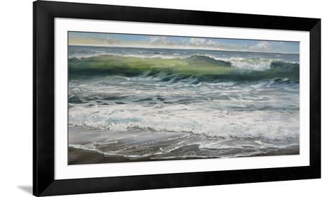 Shoreline study 8-Carole Malcolm-Framed Art Print