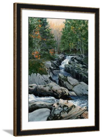 Cascades dans les Bois-Francs-Sylvia Audet-Framed Art Print