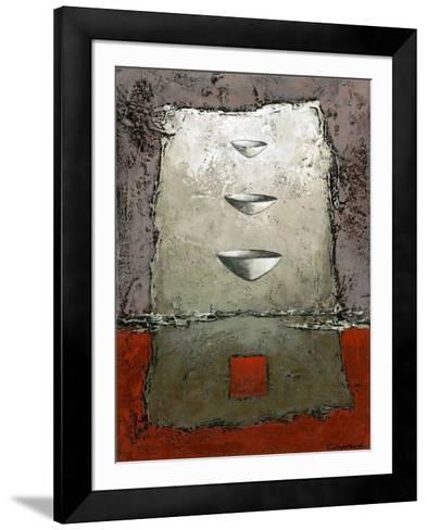 Les 3 vases-Marie Claprood-Framed Art Print