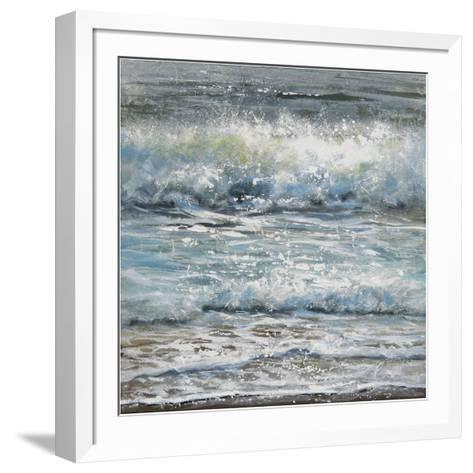 Shoreline study 1-Carole Malcolm-Framed Art Print
