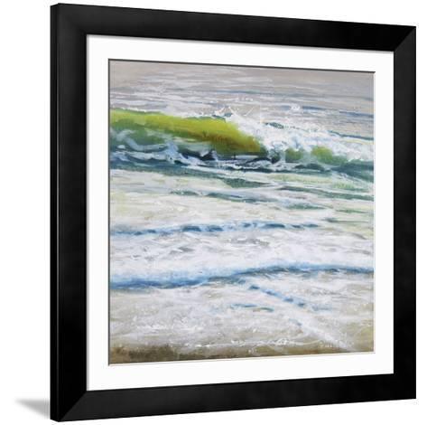 Shoreline study 4-Carole Malcolm-Framed Art Print