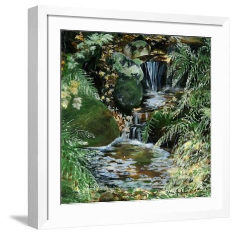 Cascades en sous-bois-Sylvia Audet-Framed Art Print