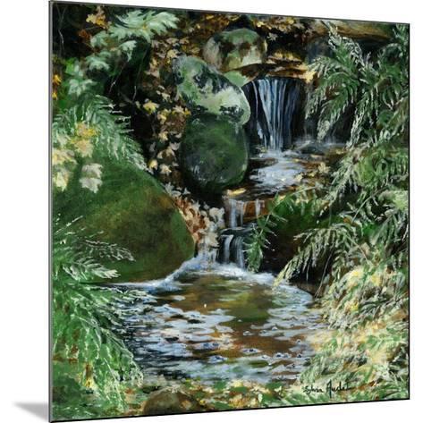 Cascades en sous-bois-Sylvia Audet-Mounted Art Print