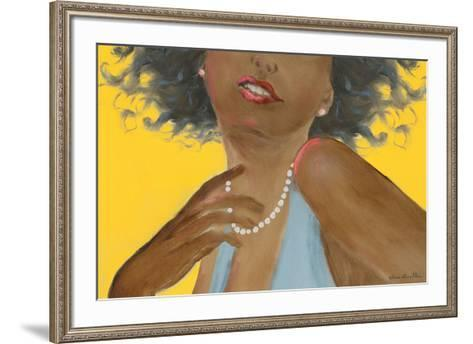 Femme noire-H?l?ne L?veill?e-Framed Art Print