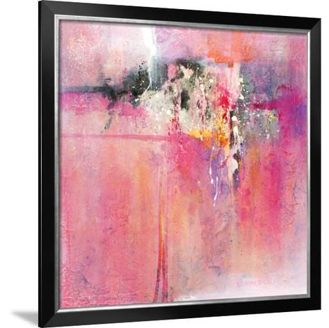 Pink orchid-Carole Malcolm-Framed Art Print