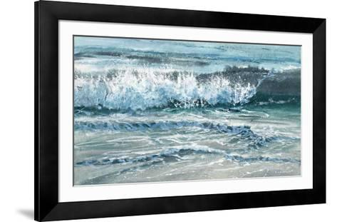 Shoreline study 15-Carole Malcolm-Framed Art Print