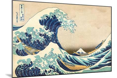The Great Wave Off Kanagawa-Katsushika Hokusai-Mounted Art Print
