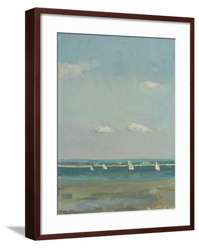 Boats at East Head I-Paul Brown-Framed Art Print