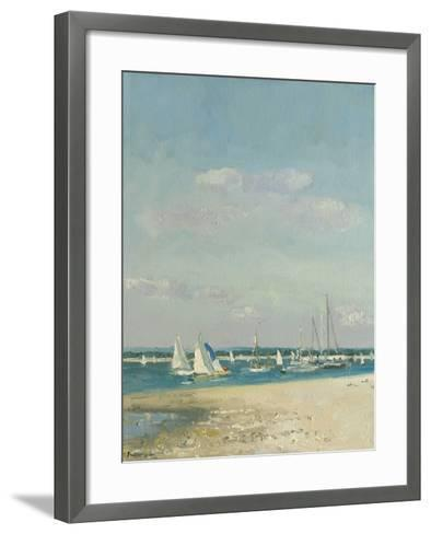Boats at East Head II-Paul Brown-Framed Art Print