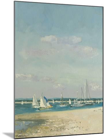 Boats at East Head II-Paul Brown-Mounted Giclee Print