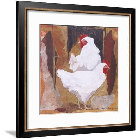 White Cockerels-Anuk Naumann-Framed Art Print