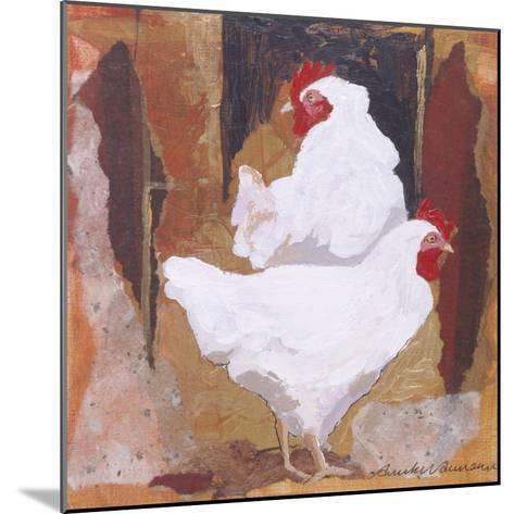 White Cockerels-Anuk Naumann-Mounted Giclee Print