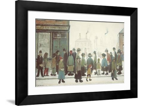 Waiting For The Shops To Open-Laurence Stephen Lowry-Framed Art Print