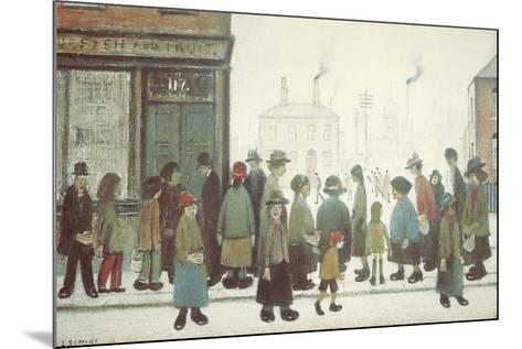 Waiting For The Shops To Open-Laurence Stephen Lowry-Mounted Giclee Print