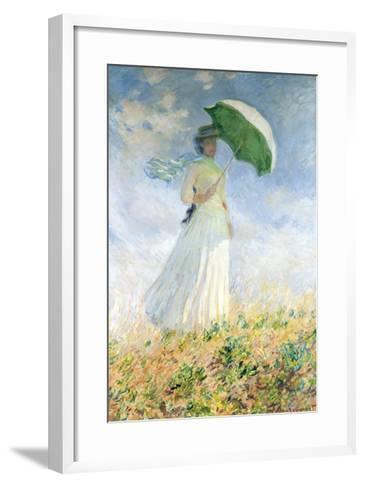 Woman With A Parasol-Claude Monet-Framed Art Print