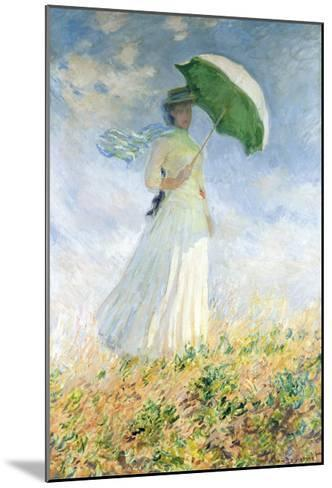 Woman With A Parasol-Claude Monet-Mounted Art Print