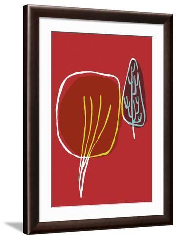 Tree Line III-Callie Crosby and Rebecca Daw-Framed Art Print