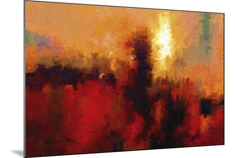 Red Ground-Kanayo Ede-Mounted Giclee Print