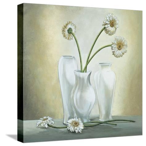 Vasi Bianchi con Gerbere-Lisa Corradini-Stretched Canvas Print