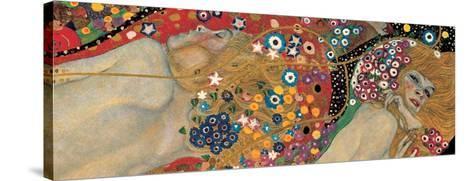 Water Serpents II, c.1907 (detail)-Gustav Klimt-Stretched Canvas Print