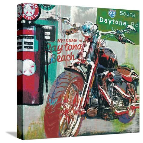 Daytona Beach-Ray Foster-Stretched Canvas Print
