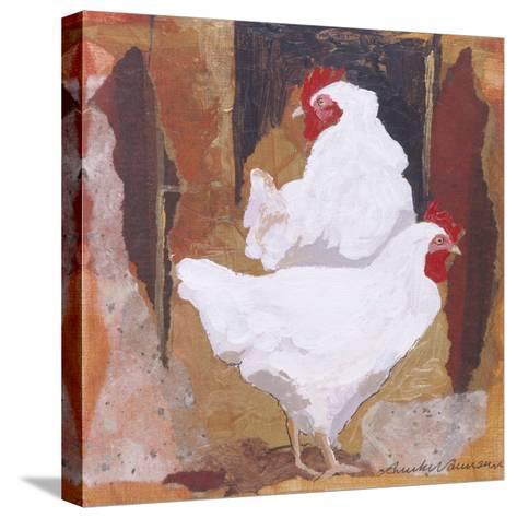 White Cockerels-Anuk Naumann-Stretched Canvas Print