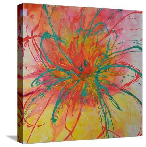 Bouquet II-Caroline Ashwood-Stretched Canvas Print