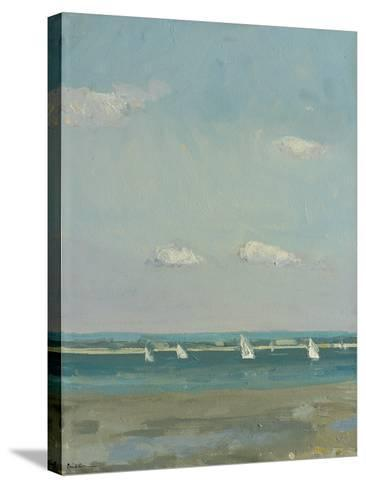 Boats at East Head I-Paul Brown-Stretched Canvas Print