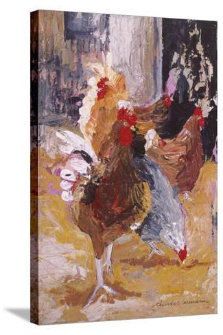 Outside the Barn-Anuk Naumann-Stretched Canvas Print