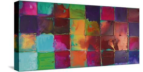 Pixel II-Caroline Ashwood-Stretched Canvas Print