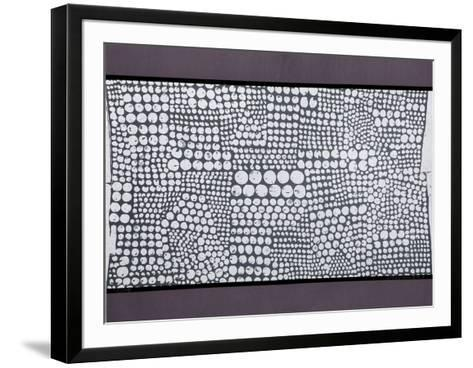 Untitled - Purple Pattern-Paul Maxwell-Framed Art Print