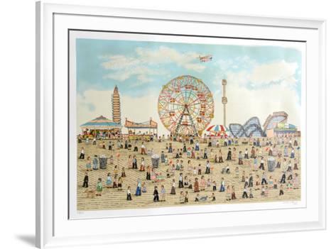 Coney Island-Vestie Davis-Framed Art Print