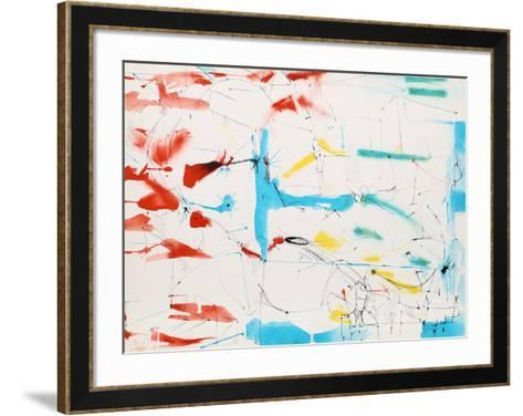 Untitled - Abstract in Primary Colors-Dimitri Petrov-Framed Art Print