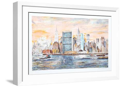 East River-Kamil Kubik-Framed Art Print