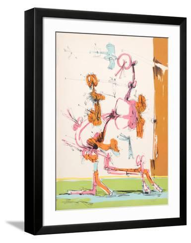 Untitled - Walking Figure-Dimitri Petrov-Framed Art Print