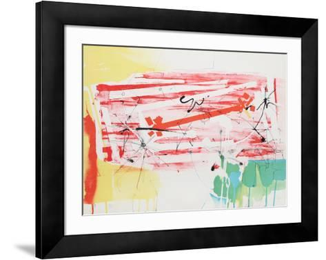 Untitled - Abstract with Sun-Dimitri Petrov-Framed Art Print