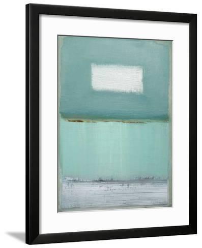Azure Blue I-Caroline Gold-Framed Art Print