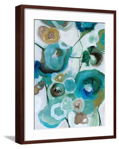 Sapphire Blooms I-Cat Tesla-Framed Art Print