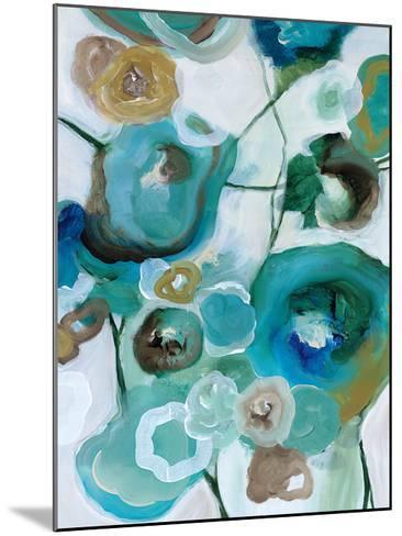 Sapphire Blooms I-Cat Tesla-Mounted Art Print