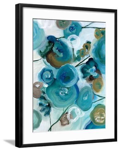 Sapphire Blooms II-Cat Tesla-Framed Art Print