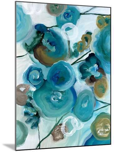 Sapphire Blooms II-Cat Tesla-Mounted Art Print