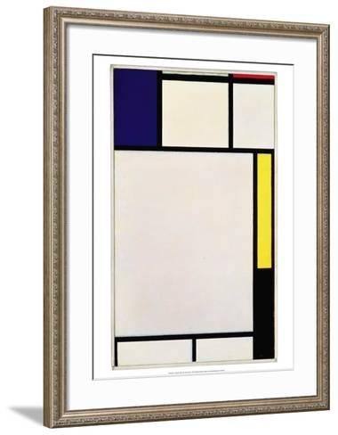 Composition in Blue, Red, Yellow and Black, 1922-Piet Mondrian-Framed Art Print