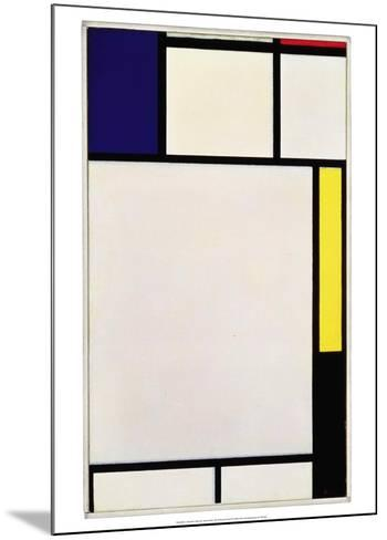 Composition in Blue, Red, Yellow and Black, 1922-Piet Mondrian-Mounted Art Print