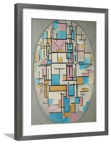 Composition in Oval with Color Planes 1, 1914-Piet Mondrian-Framed Art Print