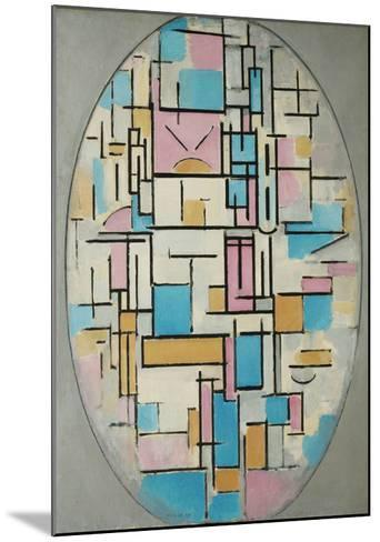 Composition in Oval with Color Planes 1, 1914-Piet Mondrian-Mounted Art Print